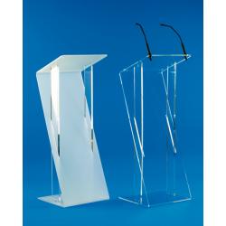 Pupitre en Z en plexiglass cristal