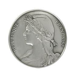 Médaille République en bronze argenté