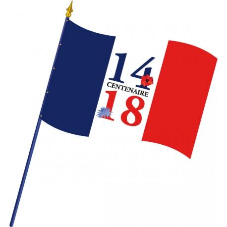 Drapeau Centenaire 14-18 - Modèle bleuet