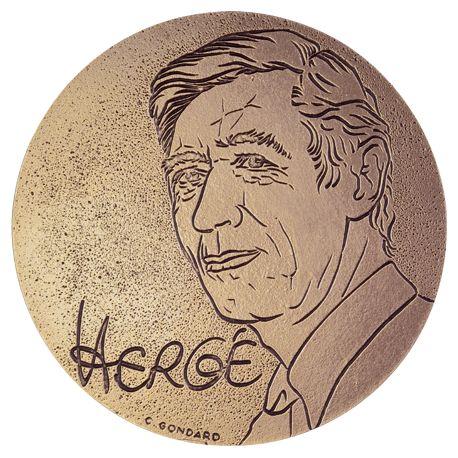Médaille Hergé
