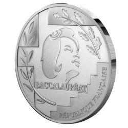 Médaille du Baccalauréat en argent uni