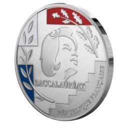 Médaille du Baccalauréat en argentan 3 couleurs