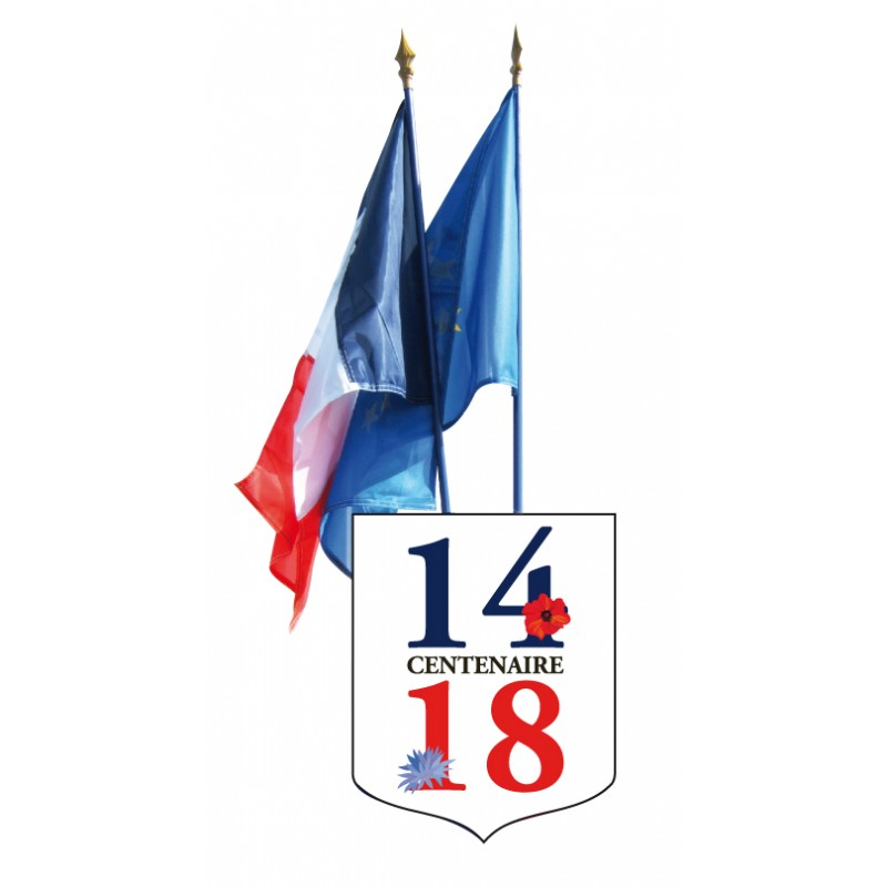 Ecusson porte drapeaux centenaire guerre 1914 1918 for Porte drapeaux