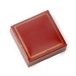 Ecrin filet doré 7x7 cm - Rouge