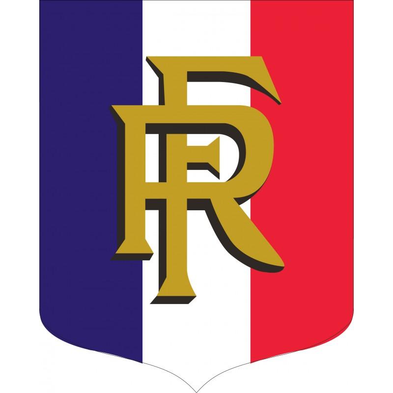 Ecusson porte drapeaux tricolore rf for Porte drapeaux