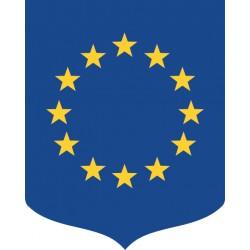 Ecusson porte-drapeaux Union Européenne