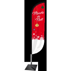 Voile Marché de Noël H. 2.30 m
