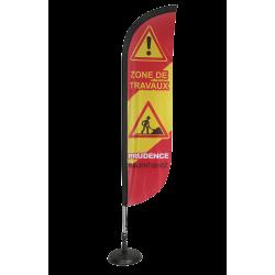 Voile ZONE DE TRAVAUX H. 2.30 m