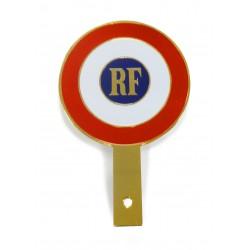 Cocarde métallique tricolore RF