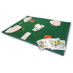 Tapis de cartes brodé personnalisé