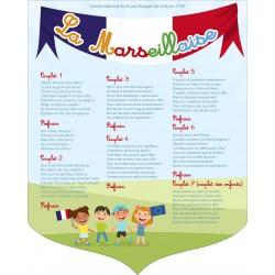Ecusson La Marseillaise modèle école maternelle