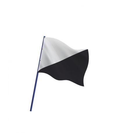 Drapeau de course automobile TRIANGLES NOIRS ET BLANCS