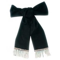 Cravate de deuil - franges bouillon argent