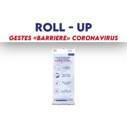 Roll-up Gestes barrière Coronavirus