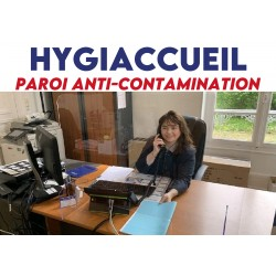 Paroi anti-contamination Hygiaccueil - GRAND modèle