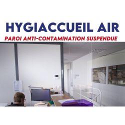 Hygiaccueil air - Plexi suspendu