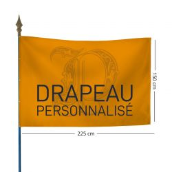 Drapeau personnalisé 150x225 cm