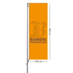 Bannière personnalisée 500x100 cm