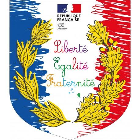 Ecusson porte drapeaux Spécial Ecole