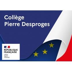 Plaque de façade personnalisée - Modèle drapeau