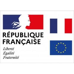 Plaque en plexiglas Liberté Egalité Fraternité