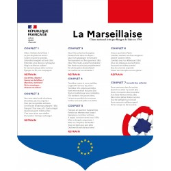 Ecusson La Marseillaise écoles, collèges, lycées