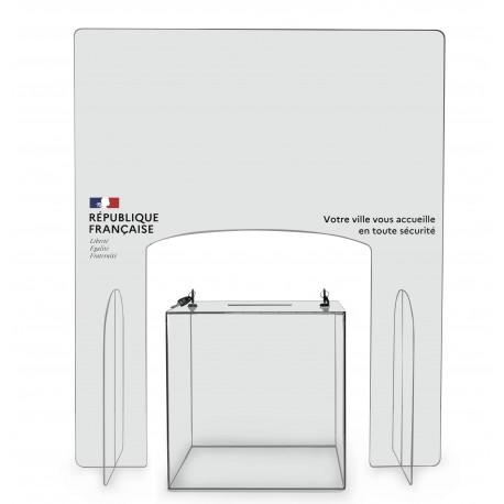 Paroi de protection en plexiglas - Modèle République Française