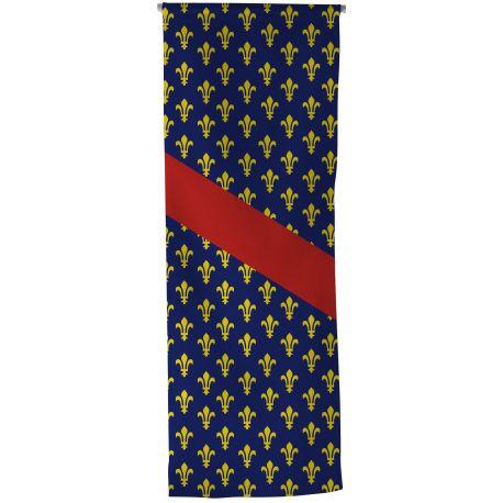 Oriflamme province Bourbonnais 50x150 cm