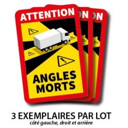Adhésif Danger Angles morts Camion