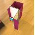 Isoloir déployable 3 places