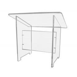 Pupitre de table en plexiglass