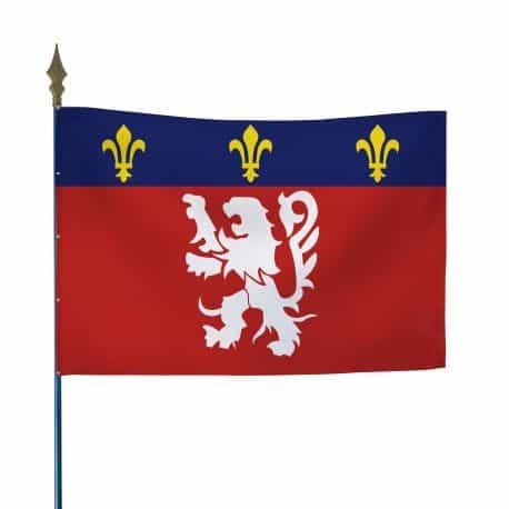 Drapeau province Lyonnais 80x120 cm