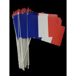 Lot de 100 drapeaux 10x15 France à agiter