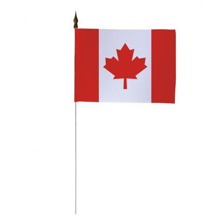 Drapeau de table Canada 10 x 15 cm - Lot de 10