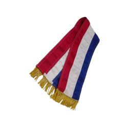 Cravate tricolore simple