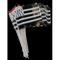 Lot de 100 drapeaux Bretagne 10x15 cm en plastique