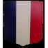 Ecusson porte-drapeaux 40x50 cm - Tricolore