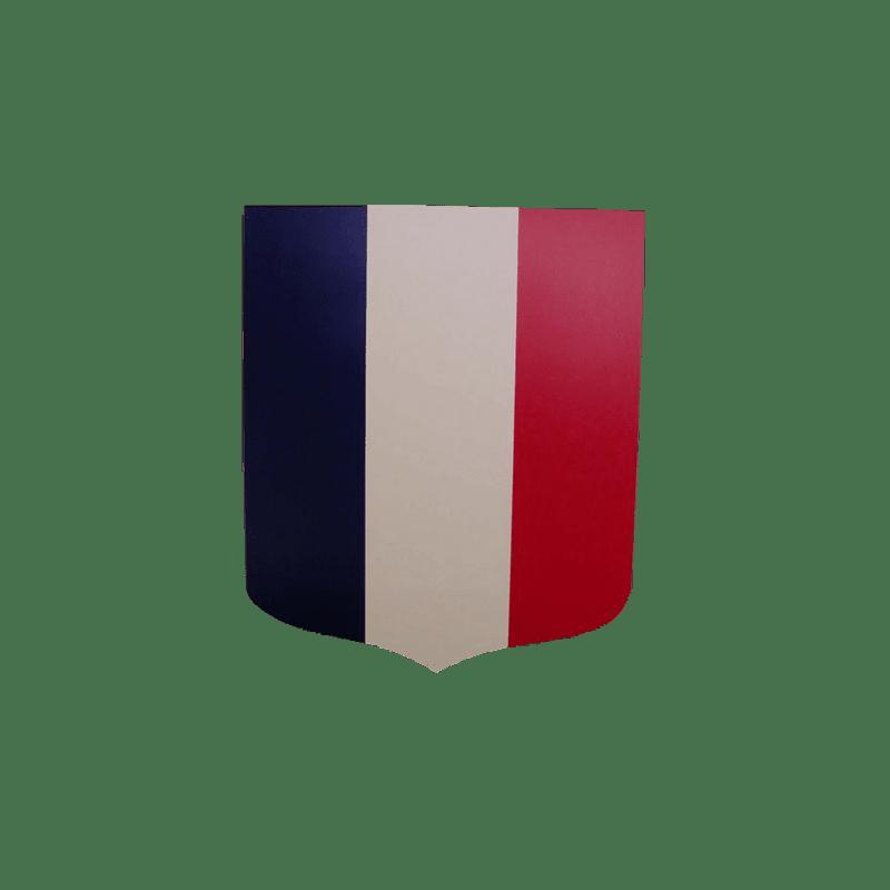 Ecusson porte drapeaux 40x50 cm tricolore for Porte drapeaux