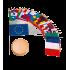 Lot des pays de l'U.E sur socle 28 trous