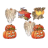 Lot de 6 découpes Halloween