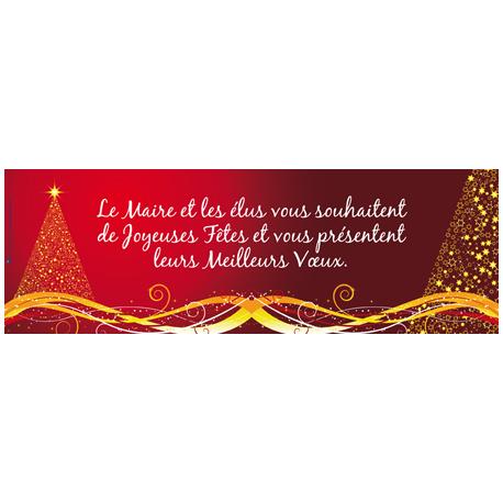 Banderole maille 100 x 300 cm - Joyeuses Fêtes