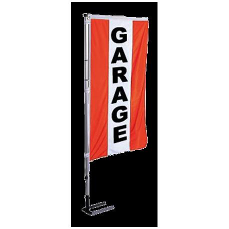 Pavillon vertical Garage avec bandes - Rouge
