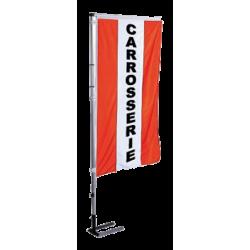 Pavillon vertical Carrosserie avec bandes - Rouge