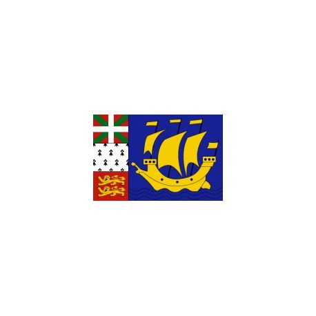 Drapeau de table St-Pierre et Miquelon 10 x 15 cm - Lot de 50