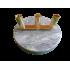 Pied en marbre et laiton - 3 places