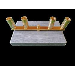 Pied en marbre et laiton - 4 places
