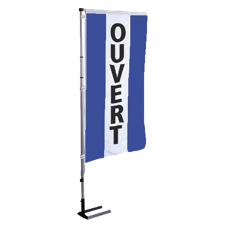 Pavillon vertical Ouvert avec bandes - Bleu