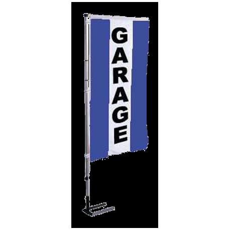 Pavillon vertical Garage avec bandes - Bleu
