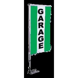 Pavillon vertical Garage avec bandes - Vert