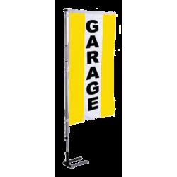 Pavillon vertical Garage avec bandes - Jaune